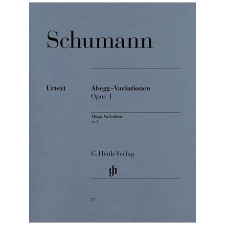 Schumann, R.: Abegg-Variationen F-Dur Op. 1