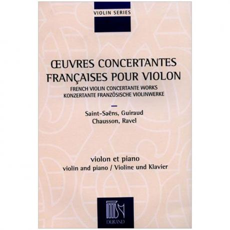 Oeuvres Concertantes Francaises