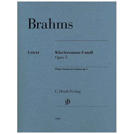 Brahms, J.: Klaviersonate Op. 5 f-Moll