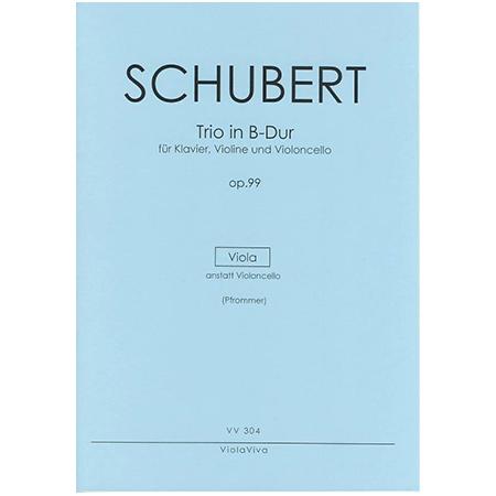 Schubert, F.: Trio für Violine, Viola und Klavier Op. 99 B-Dur – Violastimme