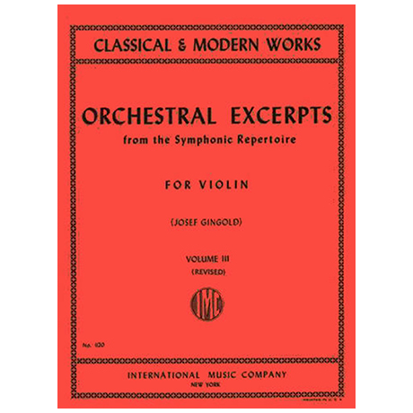 Gingold, J.: Orchestral Excerpts from the Symphonic Repertoire Band 3