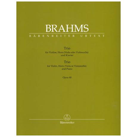 Brahms, J.: Klaviertrio Op. 40
