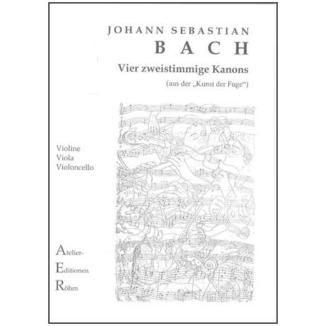 Bach, J.S.: 4 zweistimmige Kanons aus der Kunst der Fuge