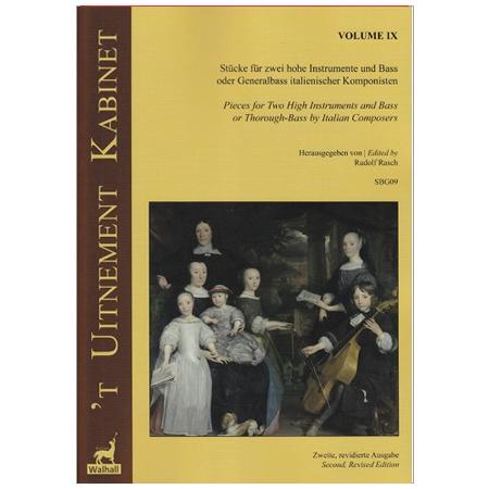 9 Werke italienischer Komponisten für 2 hohe Instrumente und Basso