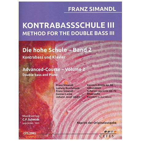 Simandl, F.: Kontrabassschule III – Die hohe Schule Band 2