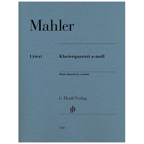 Mahler, G.: Piano Quartet a minor