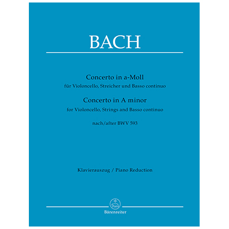 Bach, J.S.: Violoncellokonzert a-Moll nach BWV593