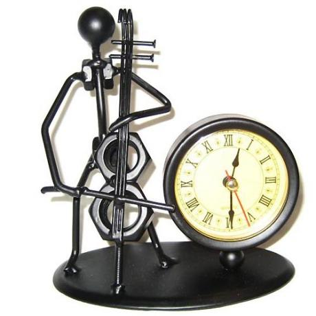 Cellist + clock