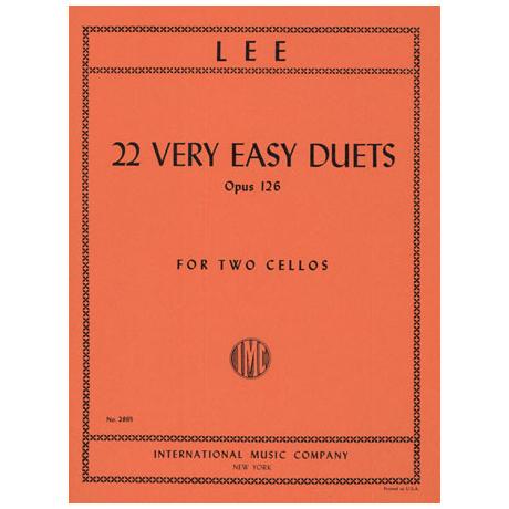 Lee, S.: 22 very easy Duets Op.126