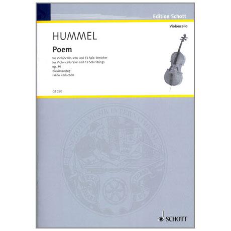Hummel, B.: Poem für Violoncello solo und 13 Solo-Streicher