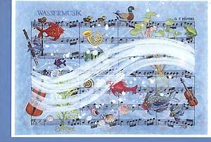 Art greeting card »Water music«