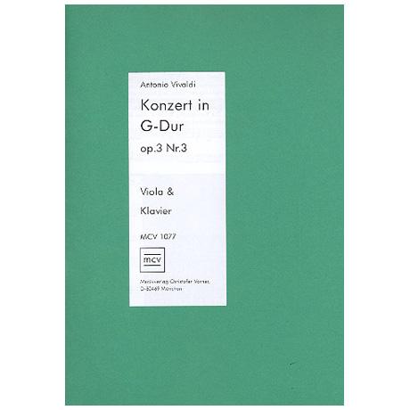 Vivaldi, A.: Violakonzert G-Dur nach Op. 3/3
