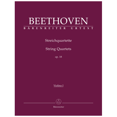Beethoven, L. v.: Streichquartette Op. 18/1-6