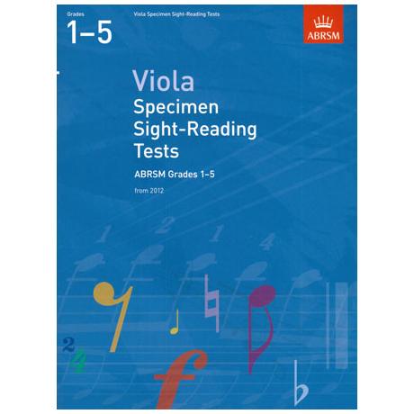ABRSM: Viola Specimen Sight-Reading Tests – Grades 1-5