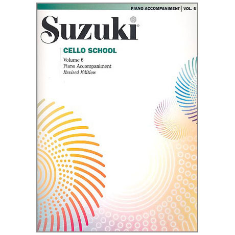Suzuki Cello School Vol. 6 – Klavierbegleitung