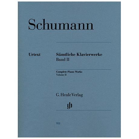 Schumann, R.: Complete Piano Works, Volume 2