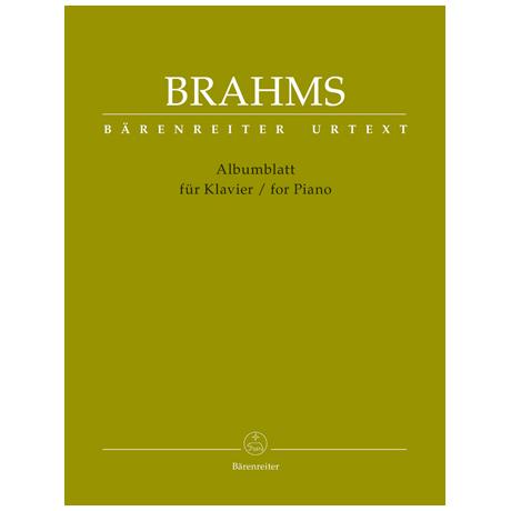 Brahms, J.: Albumblatt
