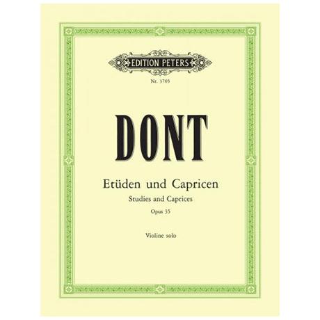 Dont, J.: 24 Etüden und Capricen Op. 35 (Sitt)