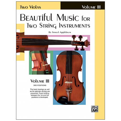 Applebaum, S.: Beautiful Music for two String Instruments Vol. 3 – Viola