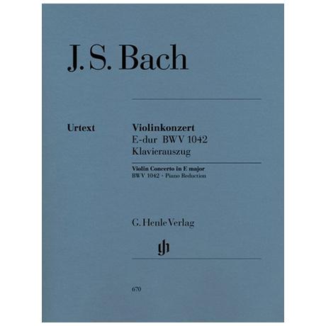 Bach, J. S.: Violinkonzert BWV 1042 E-Dur