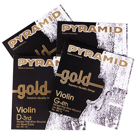 PYRAMID Gold violin strings SET