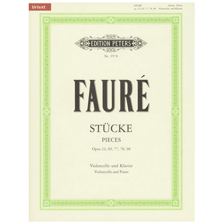 Faure, G.: Stücke für Cello und Klavier