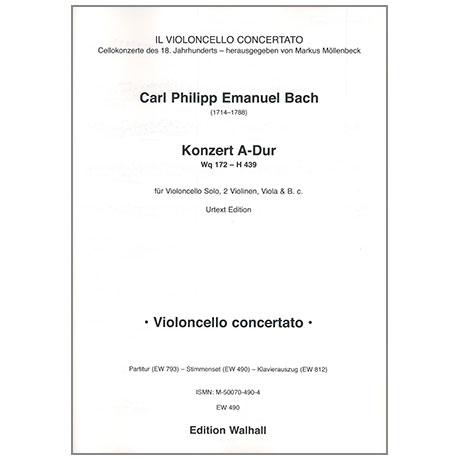 Bach, C. Ph. E.: Violoncellokonzert Wq 172 A-Dur – Stimmen