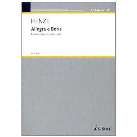 Henze H. W.: Allegra e Boris – Duetto concertante