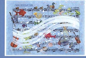 Art greeting card »Water music«