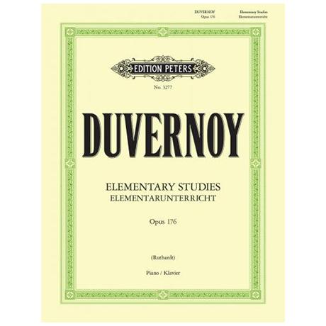 Duvernoy, J.B.: Elementar-Unterricht Op. 176