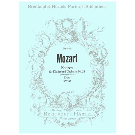 Mozart, W. A.: Klavierkonzert Nr. 26 D-Dur KV 537