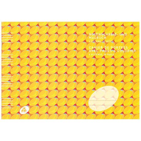 Notenschreib- und Malbuch für Kinder