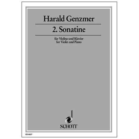 Genzmer, H.: Violinsonatine Nr. 2