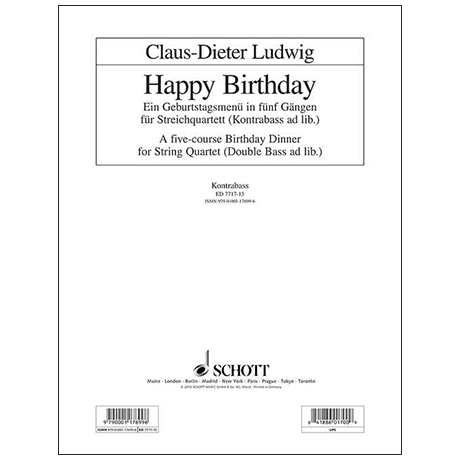 Ludwig, C.-D.:  Happy Birthday – Kontrabass