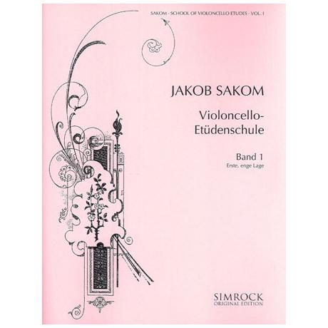 Sakom, J.: Violoncello-Etüden-Schule Heft 1