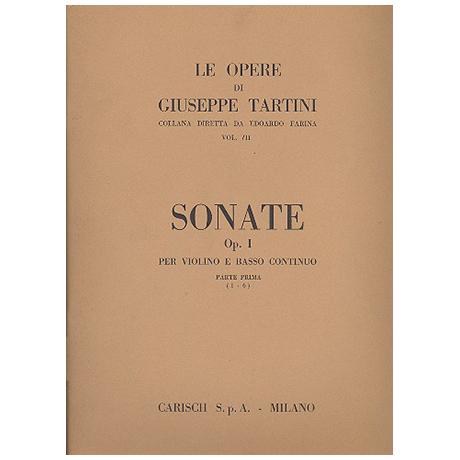 Tartini, G.: Violinsonaten Op. 1 Band 1