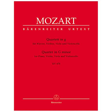 Mozart, W. A.: Quartett KV 478 g-Moll