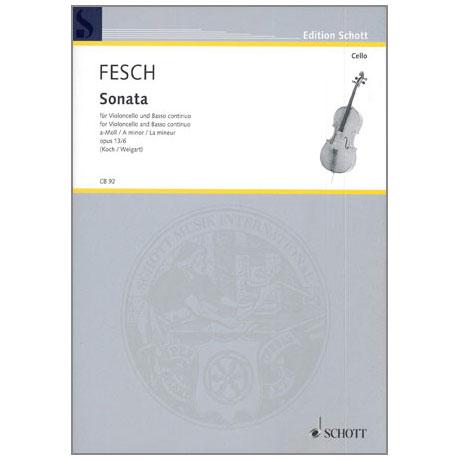 Fesch, W. d.: Sonata Op. 13/6 a-Moll