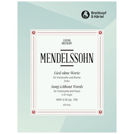 Mendelssohn Bartholdy, F.: Lied ohne Worte Op. 109 D-Dur