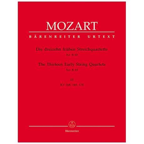Mozart, W.A.: Die dreizehn frühen Streichquartette Bd.3 KV 168, 169, 170