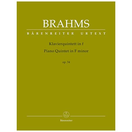 Brahms, J.: Klavierquintett Op. 34 f-Moll