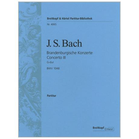 Bach, J. S.: Brandenburgisches Konzert Nr. 3 G-Dur BWV 1048