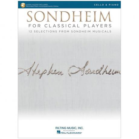 Sondheim for Classical Cello Players (+Online Audio)