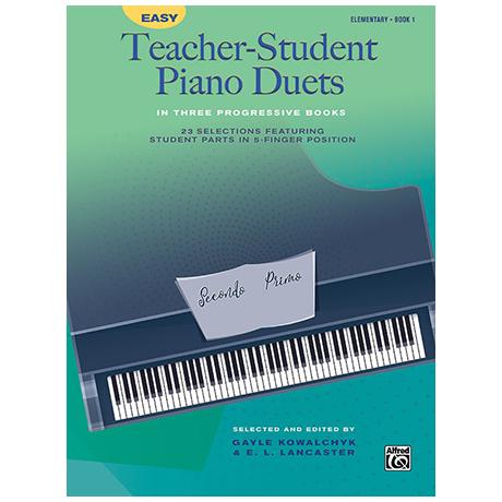 Easy Teacher-Student Piano Duets in 3 Progressive Books, Book 1
