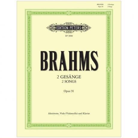 Brahms, J.: 2 Gesänge Op. 91