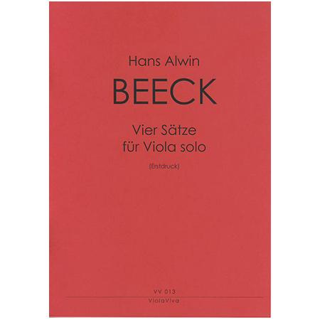 Beeck, H. A.: 4 Sätze für Viola solo