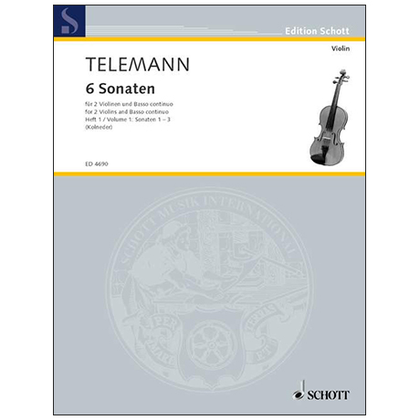 Telemann, G. Ph.: 6 Sonaten – Band 1
