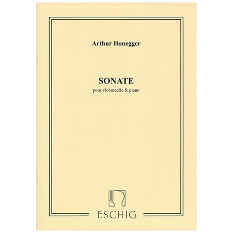 Honegger, A.: Violoncellosonate H 32 (1920)