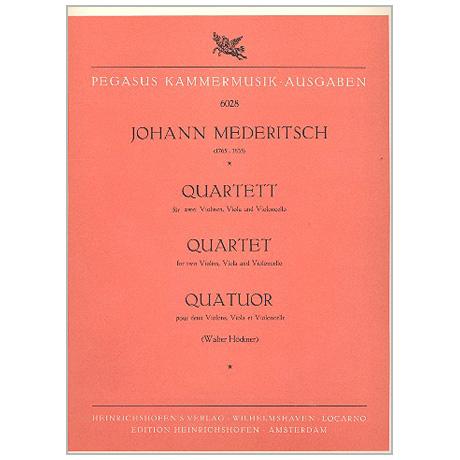 Mederitsch, J.: Streichquartett F-Dur