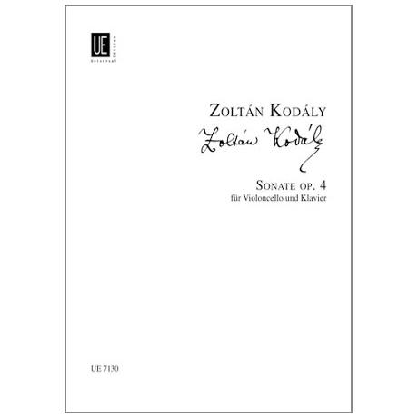 Kodály, Z.: Sonate Op. 4